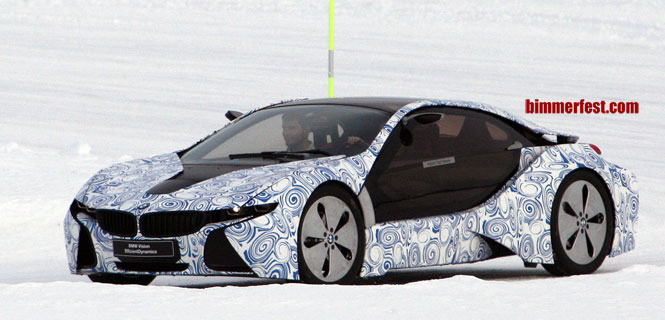 BMW i8 - part of BMW's Megacity Sub Brand i - Spied Winter Testing