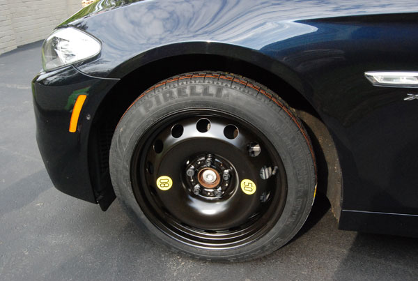 BMW F10 5 series spare tire