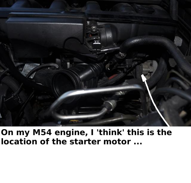starter location bimmerfest bmw forums click image for larger version starter motor jpg views 15064 size 44 0