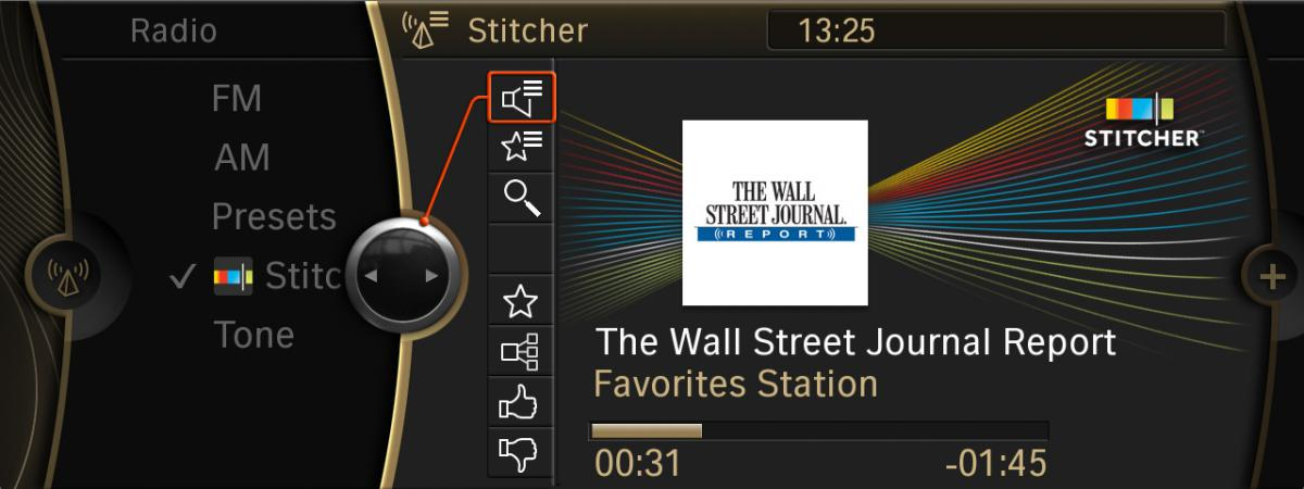 Stitcher radio now available on BMW Apps