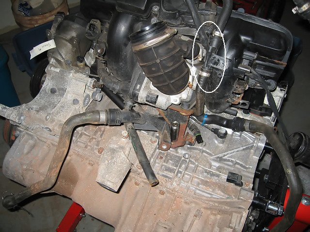 what diagrams correspond to the two vacuum hoses on the m54 air here is my m54 engine the f connector removed showing where the large hose goes to the sucking jet pump