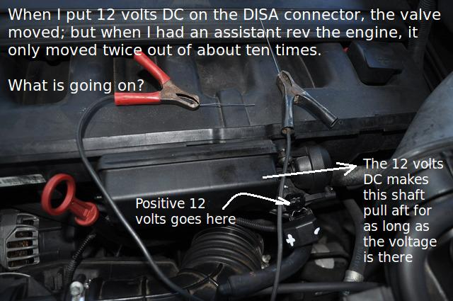 I'm confused how to properly test for DISA valve proper