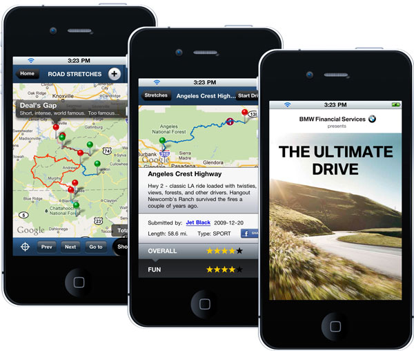 The Ultimate Drive - BMW social app to find the best roads
