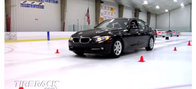 Just in time for winter Tire Rack tests snow tires on F30 3 Series