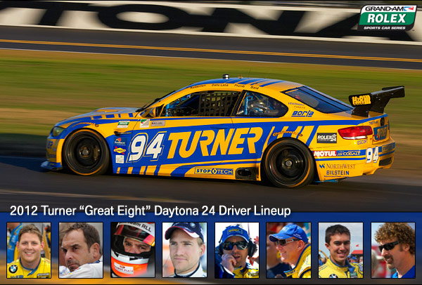 Turner Motorsport Great Eight for Daytona 24 2012