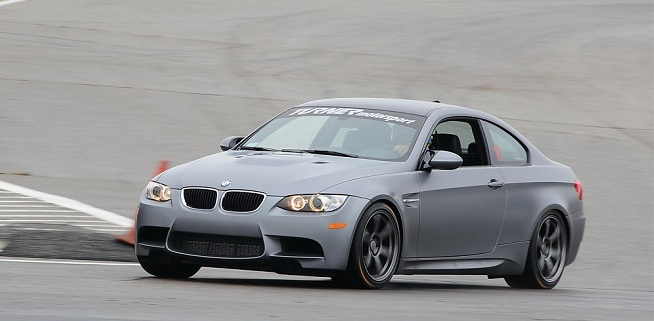 First Frozen Gray M3 Coupe at the Track - TMS turns some hot laps.