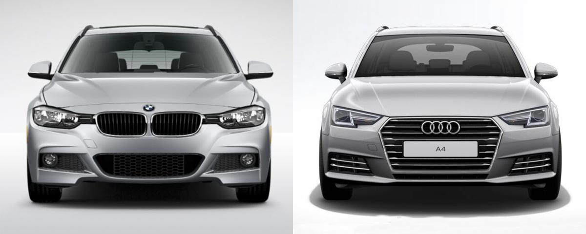 Side By Side Bmw 3 Series Sports Wagon Vs Audi A4 Avant