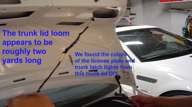 e39 electrical problems traced to trunk lid harness wire chafing it is up to us to flesh out the rest of the 13 wires in the trunk lid wiring harness loom