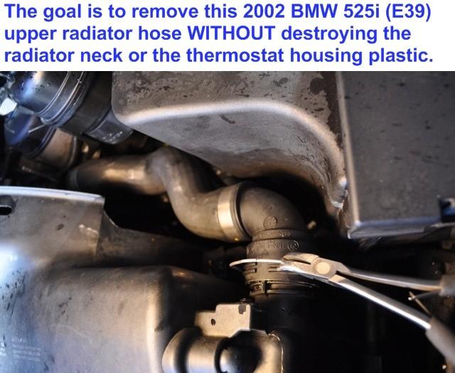 2001 bmw x5 radiator removal