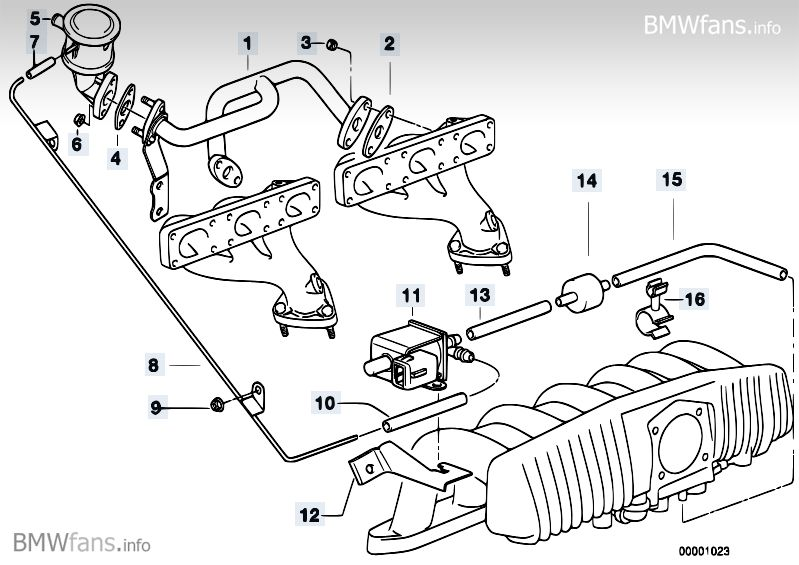 Need help with Vacuum Hose location on 97 BMW 528i