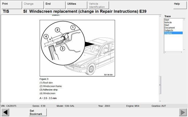 e46 windshield dimensions