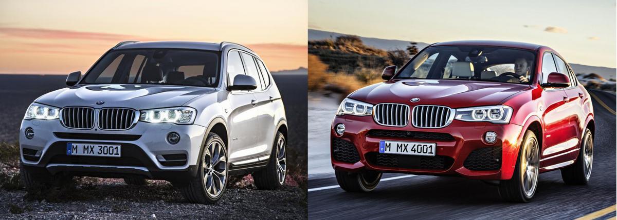 BMW X3 VS X4 Photo Comparison  Bimmerfest  BMW Forums