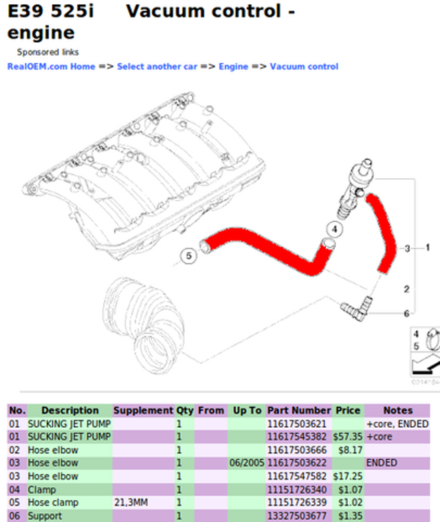 [SCHEMATICS_4CA]  What diagrams correspond to the two vacuum hoses on the M54 air intake F  connector? | Bimmerfest BMW | 1991 Bmw 525i Engine Diagram |  | Bimmerfest