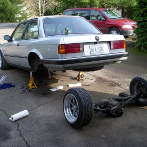 puting the camber plates in