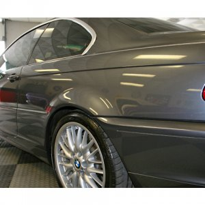 Here is my E46 Coupe sittin at my buddies Detail/Shop, I love my MV2'S