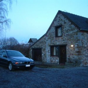 2001 E39 530d Touring at our home in Thudinie region near Ardennes, Belgium