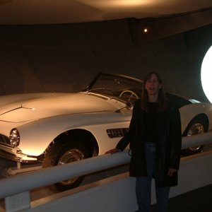 Pat (my wife) and a 507 at the BMW Museum in Munich