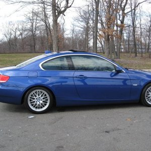 "#1: Out in Palisades Parkway in New Jersey - on the way to swap my winter tire package (17"" Beyern & Michelin WinterSport)  for my summers."