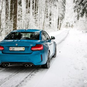 My '17 M2 in LBB during snowy conditions in northern Switzerland.