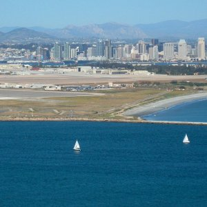 Cabrillo National Monument a.k.a Point Loma (view of downtown San Diego)