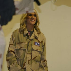 Carrie Underwood in Iraq with The USO Tour.