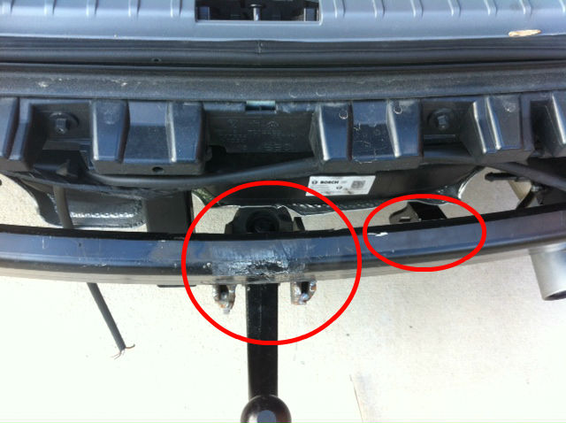 Diy oem tow bar hitch install bimmerfest bmw forums in this pic the tow hitch parts are circled in red you can see better where the electrics will hang and also the housing unit for the tow bar aloadofball Gallery