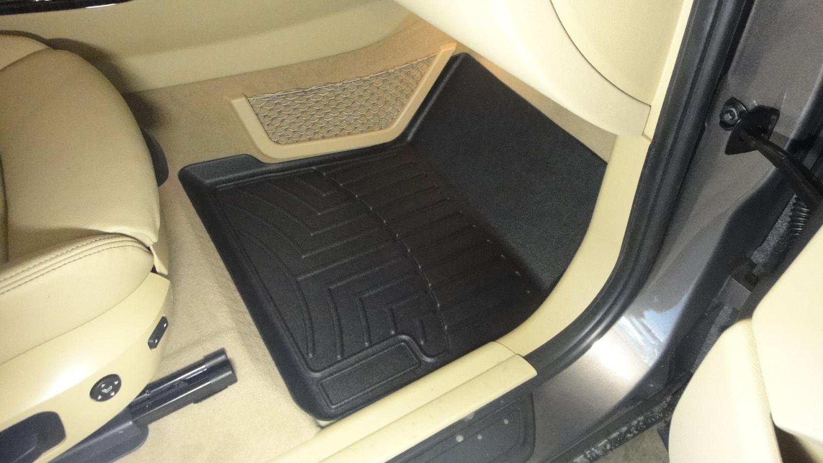 Bmw rubber floor mats e90 - At The Corner Of Each Front Mat Is A Rectangle Where A Cheesy Weathertech Self Adhesive Badge Was Inserted They Pulled Out Easily And Left No Residue